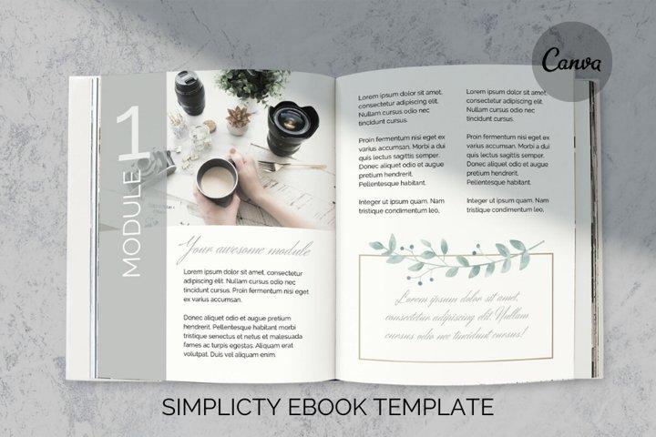 Simplicity eBook Template for Canva