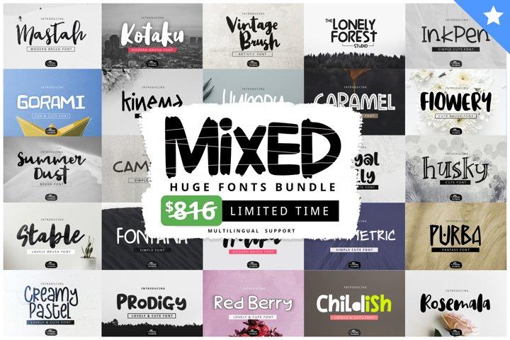MIXED Huge Font Bundles