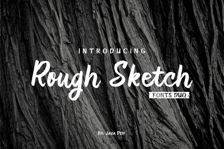 Rough Sketch - fonts duo