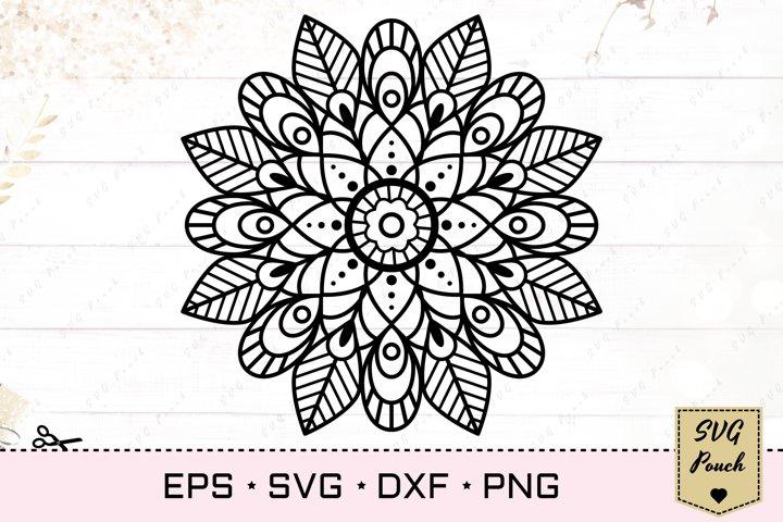 Mandala svg flower