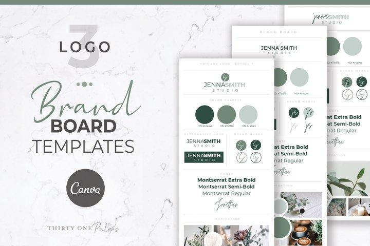 Brand Board Templates for Canva | Eucalyptus