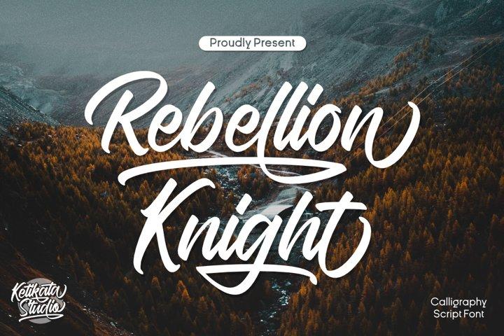 Rebellion Knight Calligraphy Script Font