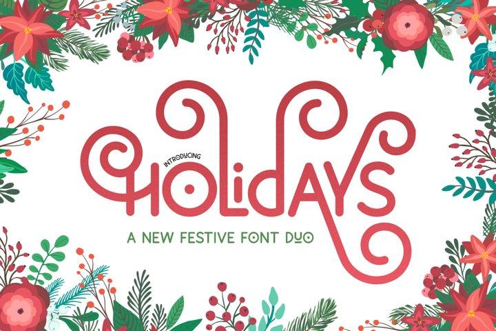 Holidays Font Duo