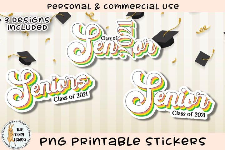 Senior 2021 Printable Stickers