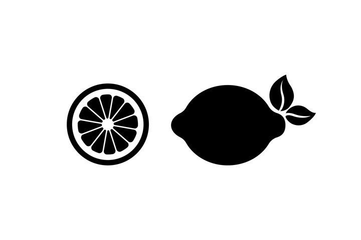 Lemon, lime icon. Fruit element. Citrus. Vector