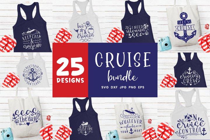 Cruise Svg Bundle | 25 Designs Cruise Boat Anchor Ship Wheel