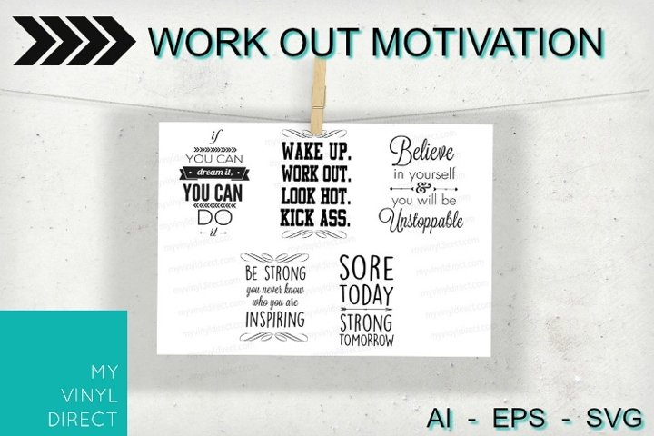 5pk Work Out Motivation Cutting Files