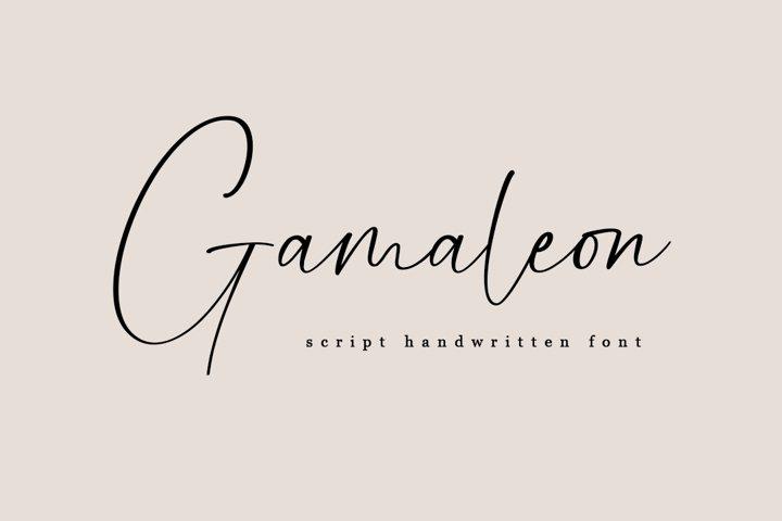 Gamaleon - Script Handwritten Font