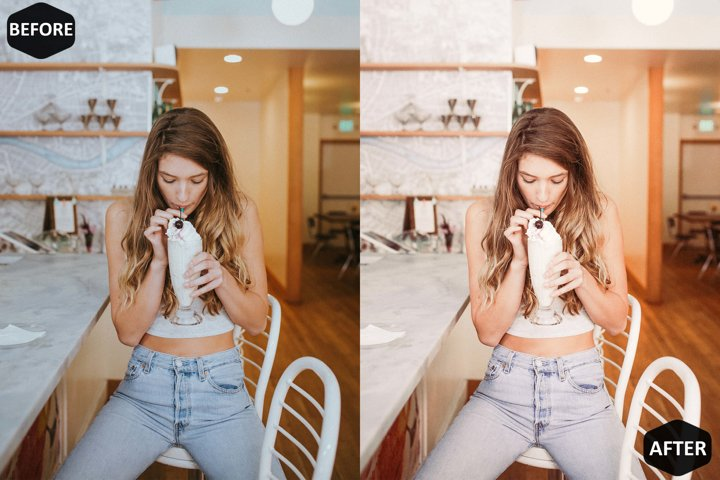 Milkshake Photoshop Action And ACR Presets, Peachy Ps preset example 1