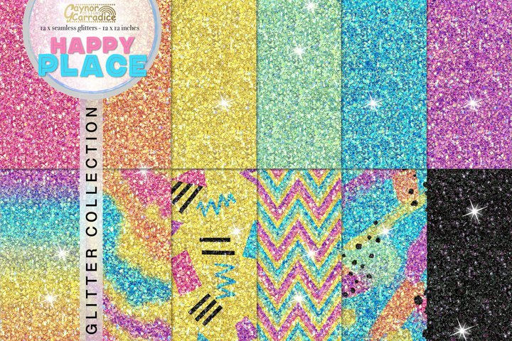 Rainbow seamless Glitter backgrounds