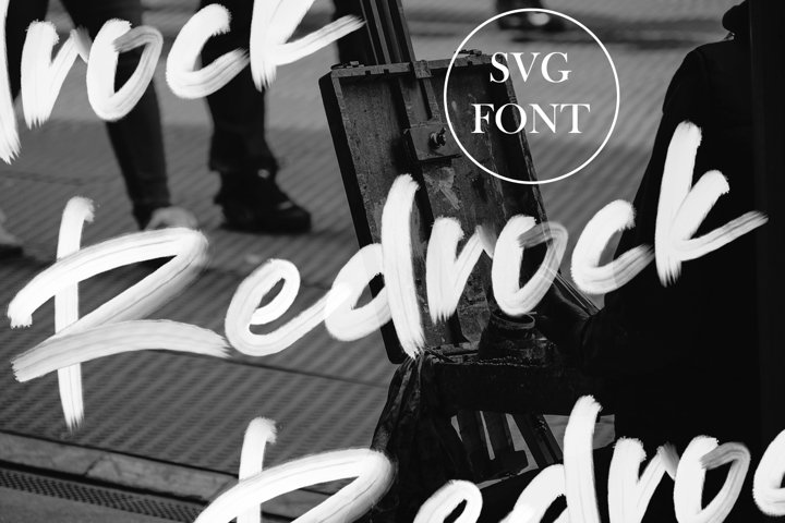 Redrock | SVG Brush Font