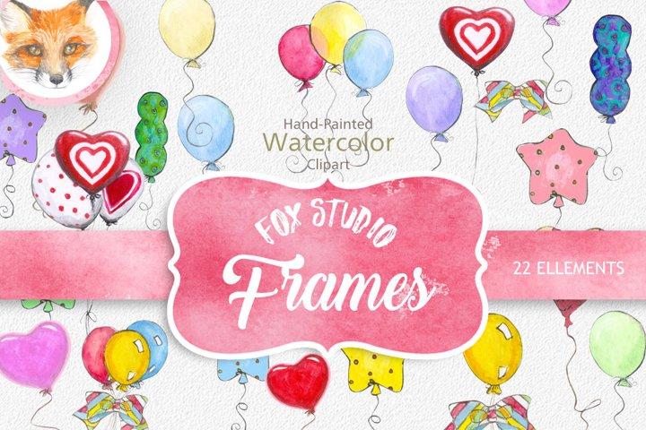 Watercolor balloon clipart, watercolour balloons clipart