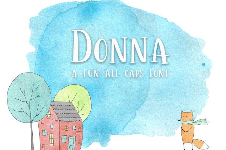 Donna- A Fun Caps Font
