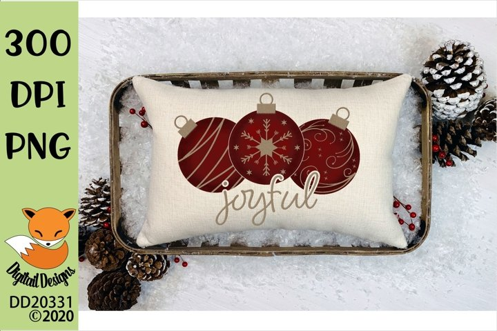 Joyful Christmas Ornament Bauble Sublimation