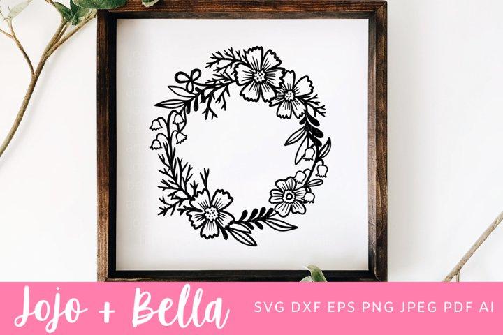 Flower Svg | Wreath Svg