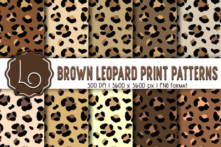 Brown Leopard Print Patterns