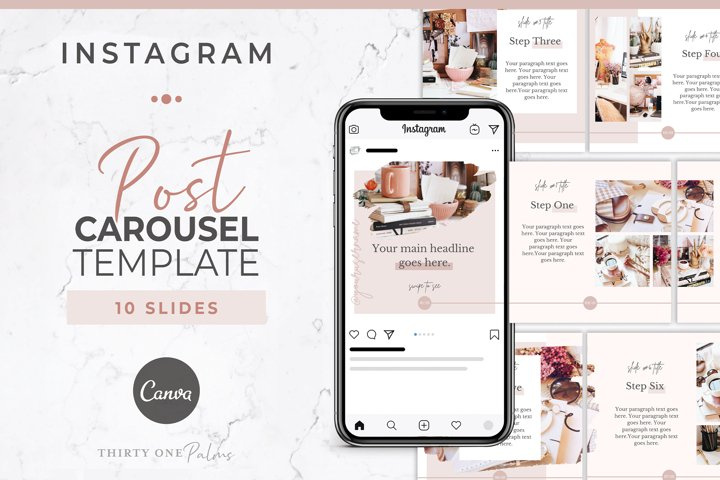 Instagram Post Carousel for Canva | Blush