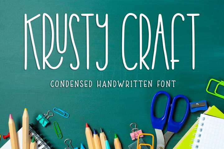 Krusty Craft - condensed handwritten -