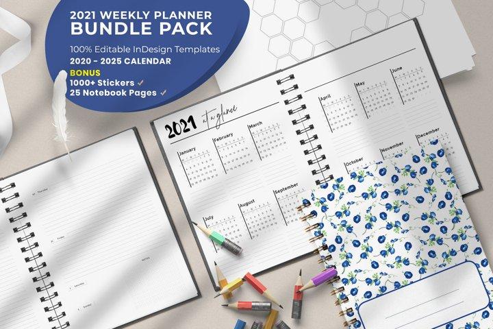 2021 Weekly Planner Bundle Pack