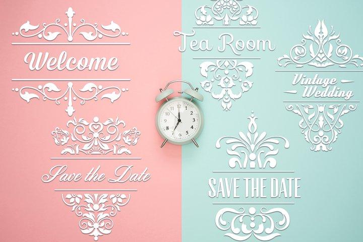 Ornamental Frames SVG | Wedding SVG Decor