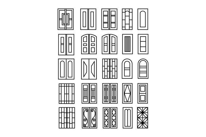 collection of door and window styles outline