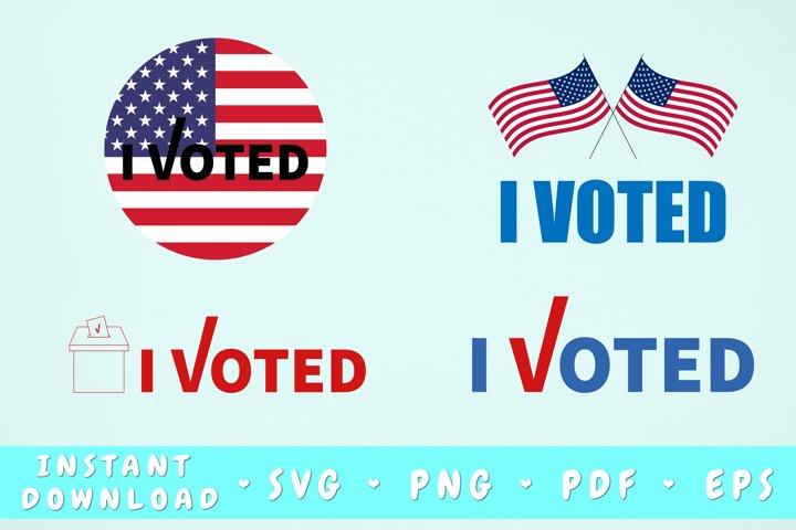 I Voted SVG Bundle, Presidential Elections SVG