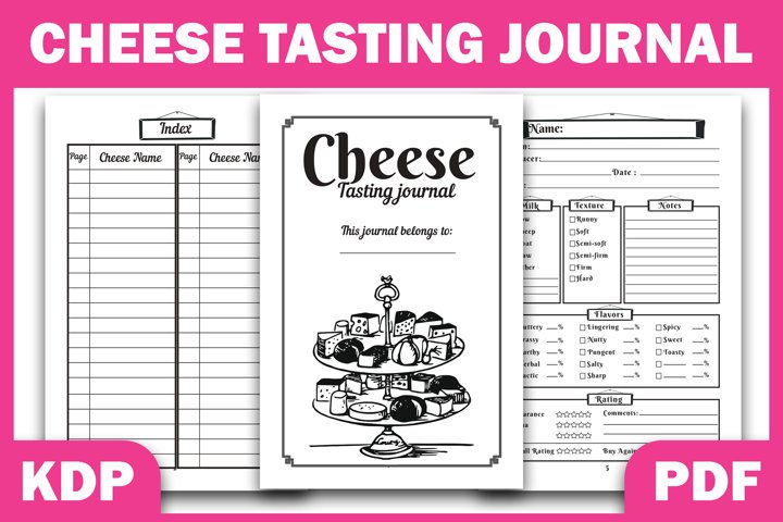KDP Interior Cheese Tasting Journal Logbook Ready Forr KDP