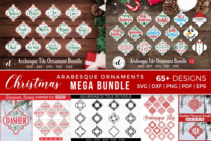 Arabesque Christmas Ornaments Mega Bundle