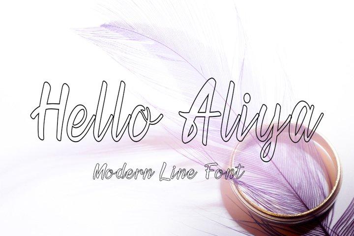 Hello Aliya | Modern Line Font