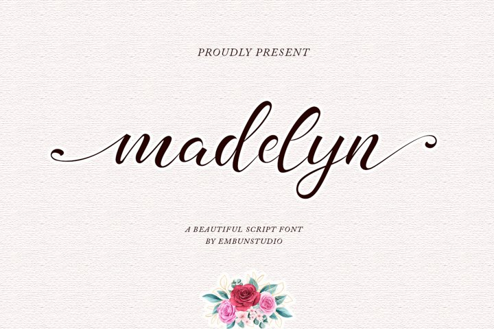 madelyn - Chic Script font