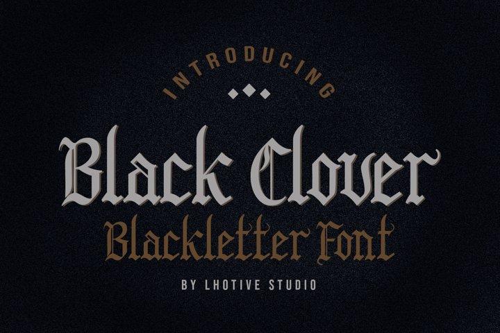 Black Clover | Blackletter Font