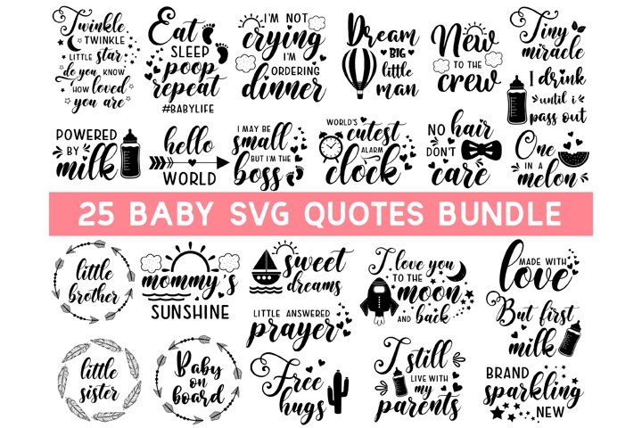 Baby SVG Bundle, Cute Baby Sayings SVG, Baby Quote Bundle