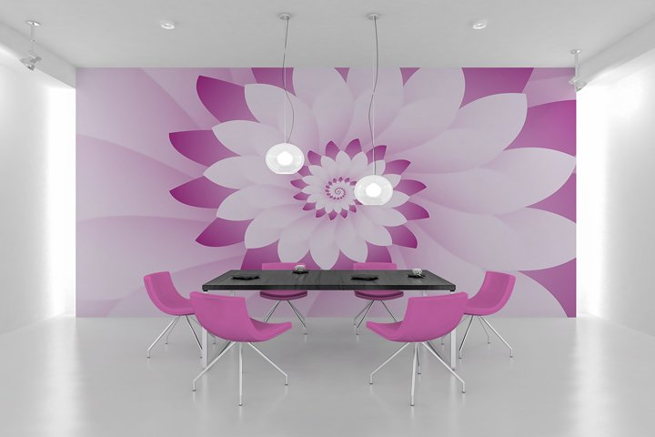 Abstract Pink & White Floral Design Background
