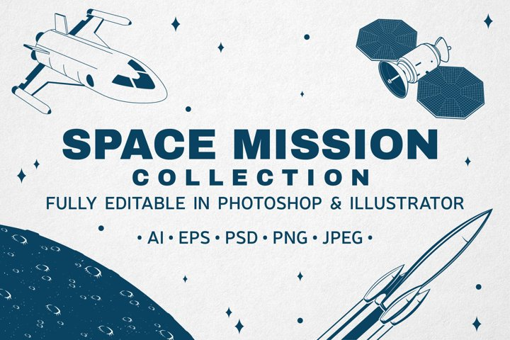 Space Mission Badge/Logo Collection