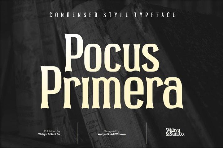Pocus Primera | Condensed Style Font