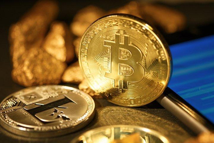 Golden Bitcoin Coin JPG set example 2
