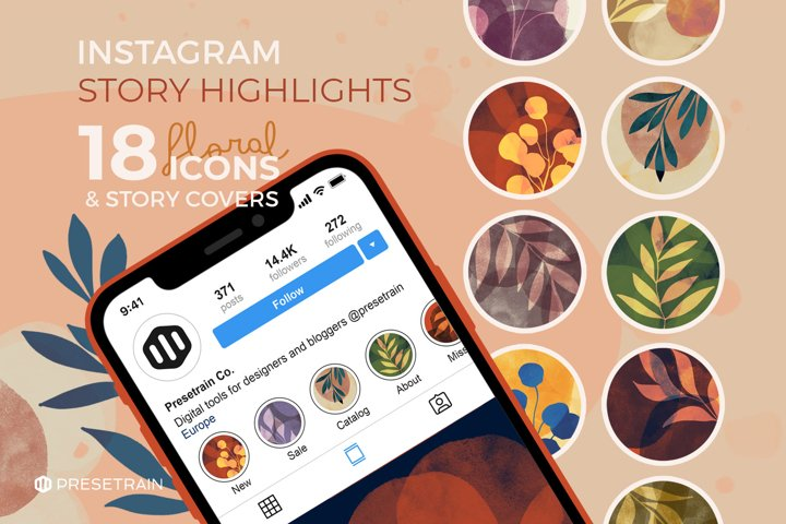 Abstract Floral Instagram Story Highlight Icons