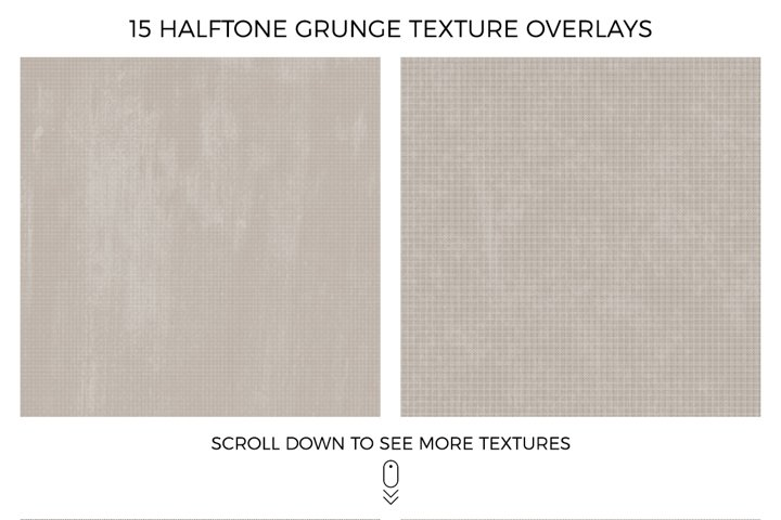 Halftone and Grunge Overlays example 5