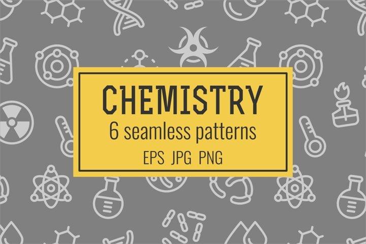 6 chemistry seamless patterns