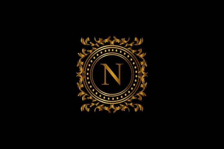 Vintage monograms N letter logo. corporate logo