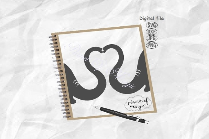 Elephant Svg, Elephant Snout Svg, Elephant Heart Svg