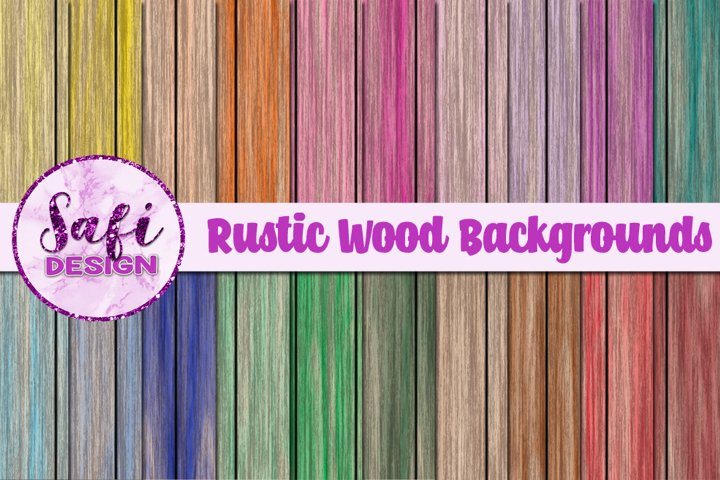 Digital Paper - Rustic Wood Backgrounds example