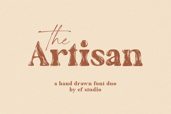 The Artisan |The Artisan | A Hand Drawn Font Duo