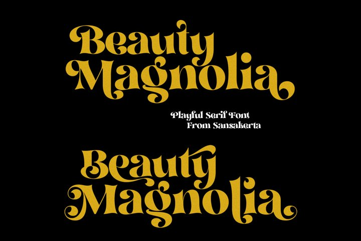 Beauty Magnolia - Display Font - Free Font Of The Week Design2