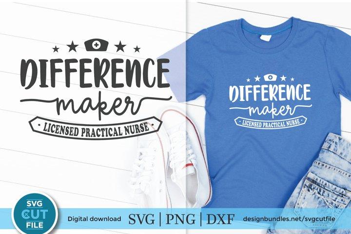 LPN svg, a licensed practical nurse svg for crafters