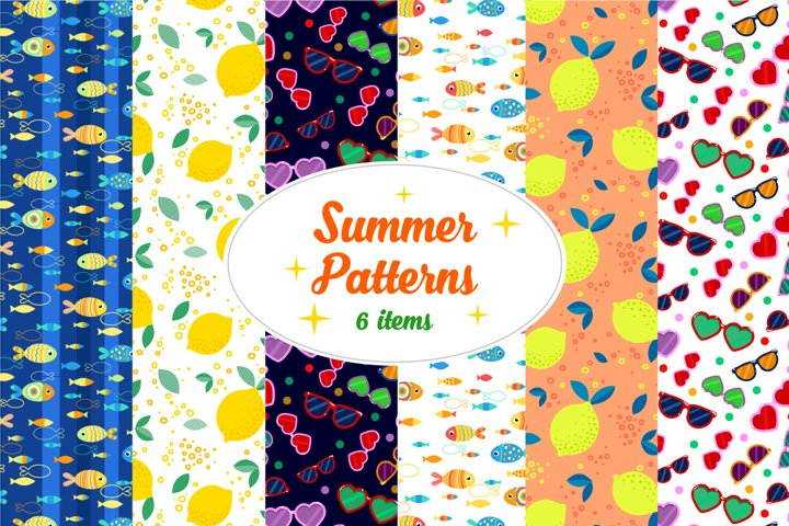 Summer Patterns - 6 digital papers