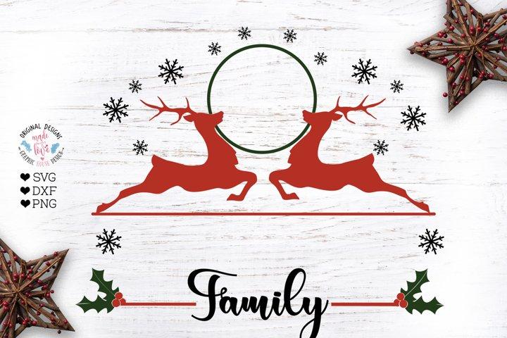 Christmas Family Last Name Frame