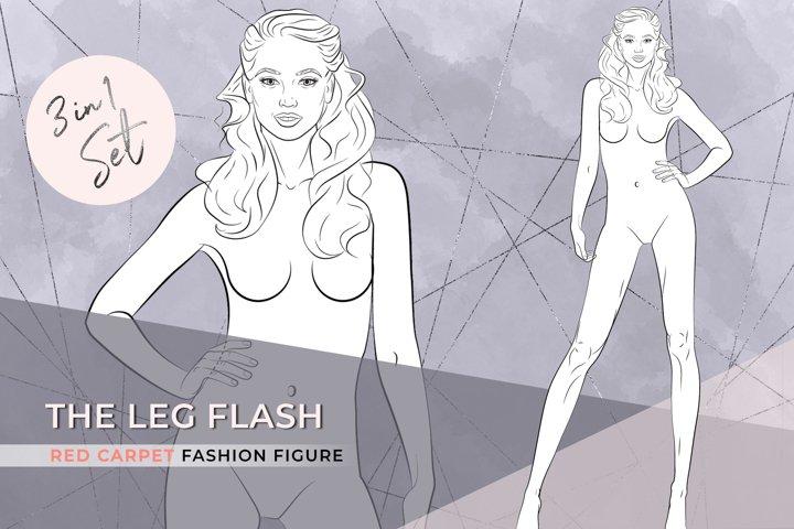 The Leg Flash  Elegant Fashion Figure 3 in 1 set