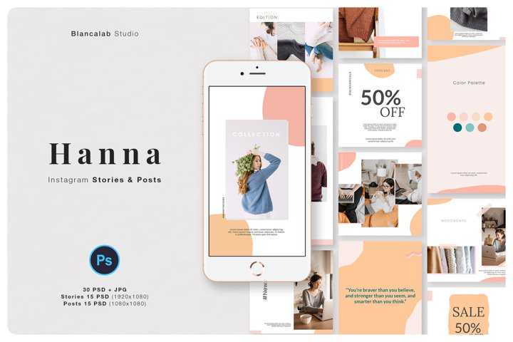 HANNA Instagram Pack | PSD