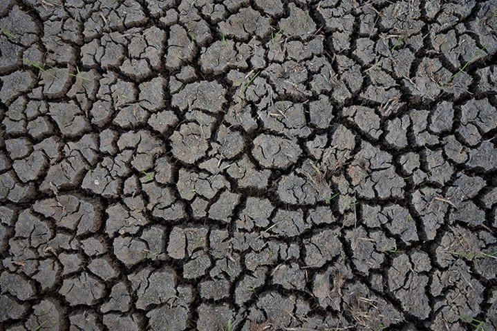 dry soil structure in the dry season